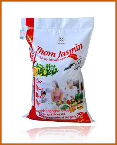 bao bì gạo 25 kg mẫu 1