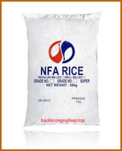 bao bì gạo 50 kg mẫu 6